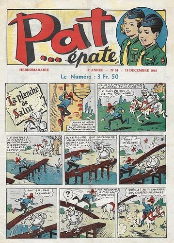 Pat épate 1948 - n°51 - La planche de salut - 19 décembre 1948 - page 1