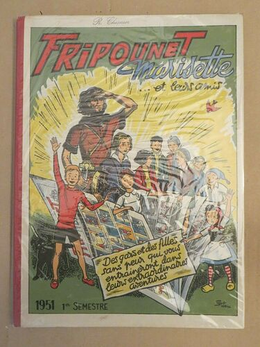 Reliure Fripounet et Marisette 1951 - 1er semestre - du n°1 au n°26