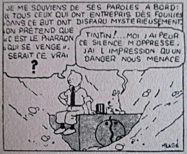 Buvard Coeurs Vaillants 15 Fcs - 1 - Tintin et les cigares du pharaon (détail de la vignette)