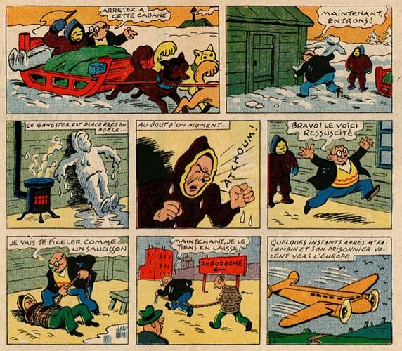 Pat épate 1949 - n°38 - pages centrales - Le Singe Rouge - 18 septembre 1949
