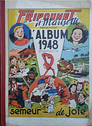 Reliure Fripounet et Marisette 1948 - 1er semestre