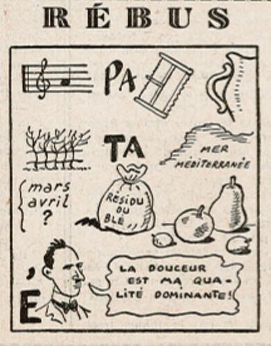 Ames Vaillantes 1938 - n°34 - page 5 - Rébus - 25 août 1938