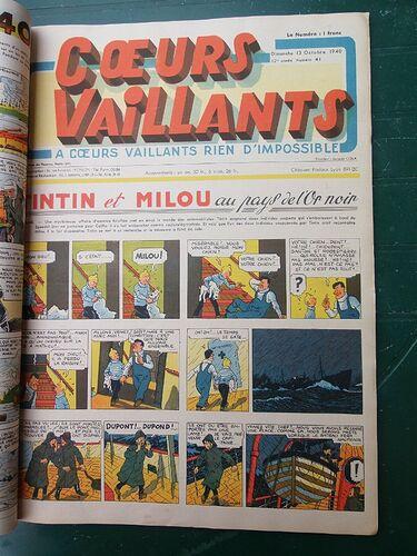 Reliure Coeurs Vaillants 1940 - 1er semestre (4)