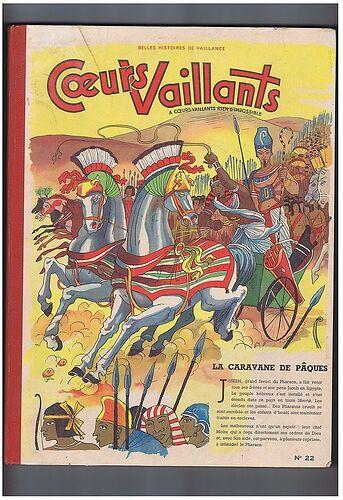 Reliure Coeurs Vaillants 1956 - n°22 - du n°1 au n°17