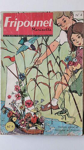 Reliure Fripounet et Marisette 1962  - n°4 - du n°8 au n°18
