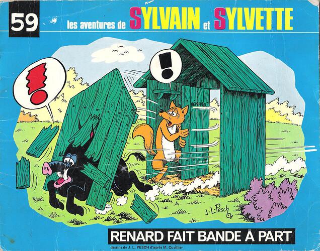 Album n°59 - Renard fait bande à part - 1975 - couverture