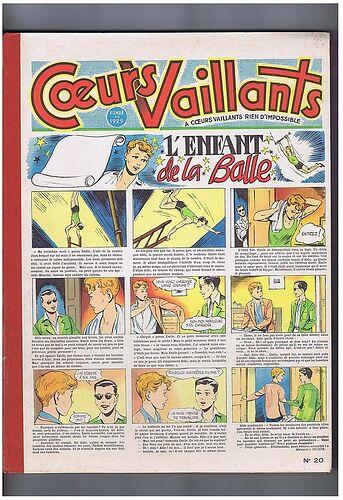 Reliure Coeurs Vaillants 1955 - n°20 - du n°18 au n°34