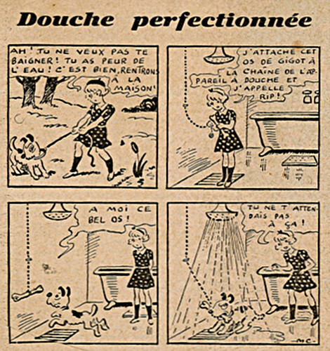 Ames Vaillantes 1938 - n°24 - page 6 - Douche perfectionnée - 16 juin 1938