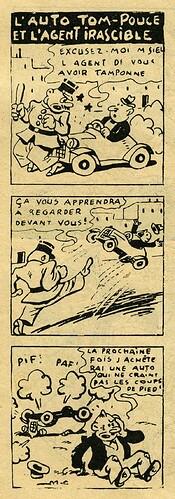 Pat épate 1949 - n°11 - page 14 - L'auto Tom-Pouce et l'agent irascible - 13 mars 1949