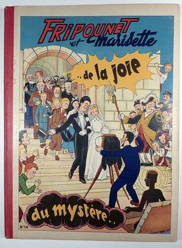 Reliure Fripounet et Marisette 1953 - n°14 - du n°27 au n°52