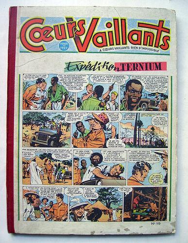 Reliure Coeurs Vaillants 1955 - n°19 - du n°1 au n°17