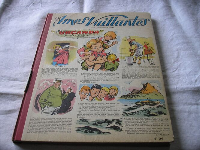 Reliure Ames Vaillantes 1957 - n°26 - du n°1 au n°13