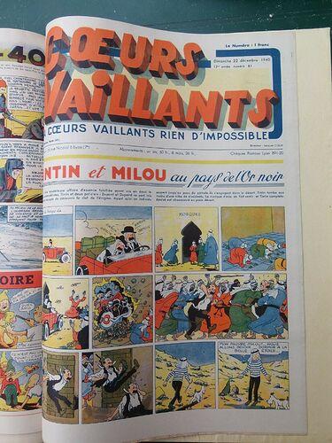 Reliure Coeurs Vaillants 1940 - 1er semestre (10)