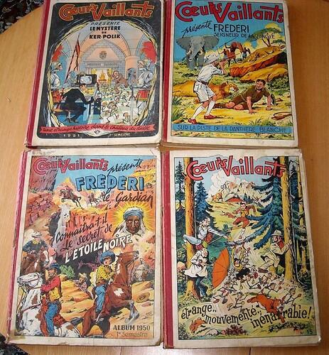 Album Coeurs Vaillants 1950 1951 1952 1953