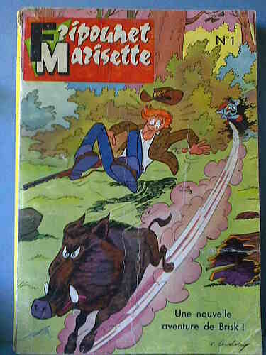 Reliure Fripounet et Marisette 1961  - n°1 - du n°29 au n°37
