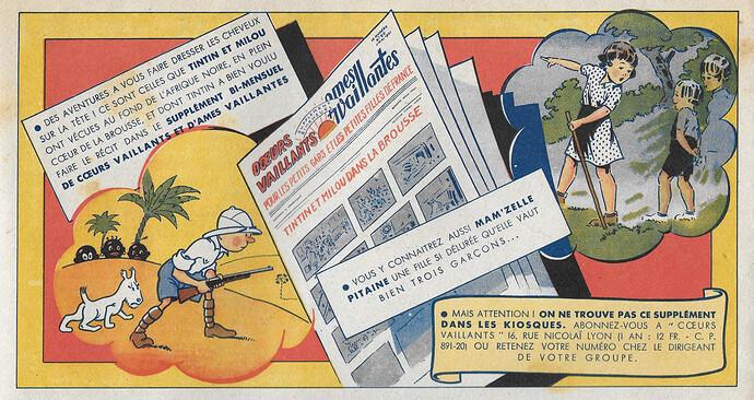 Coeurs Vaillants 1941 - n°22 - Publicité pour le supplément CV-AV - 1er juin 1941