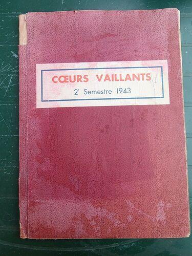 Reliure Coeurs Vaillants 1943 - 2ème semestre (1)