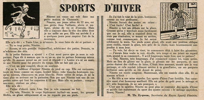 Ames Vaillantes 1938 - n°3 - page 2 - Sports d'hiver - 20 janvier 1938