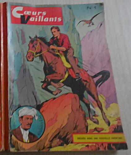 Reliure Coeurs Vaillants 1961 - n°1 - du n°28 au n°37
