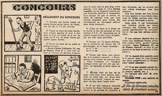 Ames Vaillantes 1938 - n°49 - page 6 - Concours - 8 décembre 1938