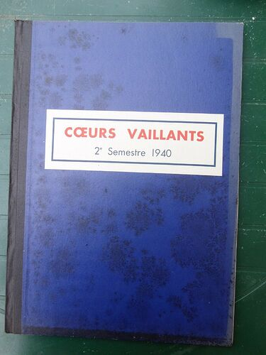 Reliure Coeurs Vaillants 1940 - 1er semestre (1)