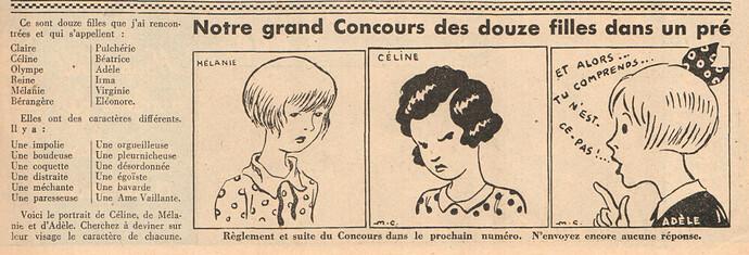 Ames Vaillantes 1937 - n°2 - Concours des douze filles dans un pré - 16 décembre 1937 - page 3