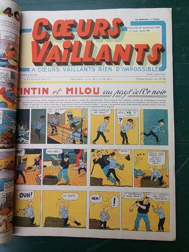 Reliure Coeurs Vaillants 1940 - 1er semestre (3)