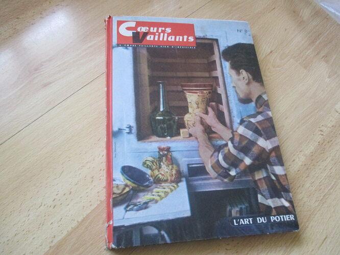 Reliure Coeurs Vaillants 1962-1963 - n°8 - du n°52 au n°10