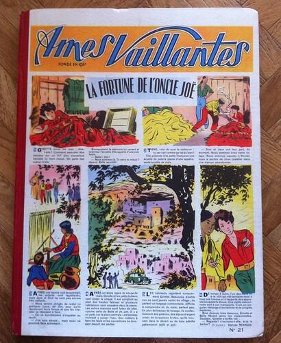 Reliure Ames Vaillantes 1955 - n°21 - du n°35 au n°52