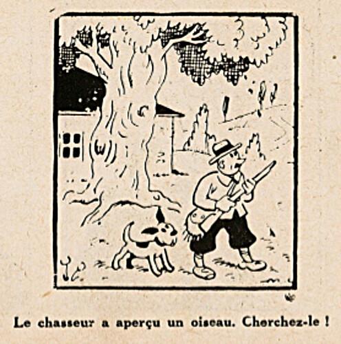 Pat épate 1949 - n°9 - page 12 - Le chasseur a aperçu un oiseau - 27 février 1949