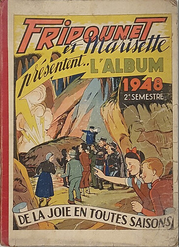 Reliure Fripounet et Marisette 1948 - 2ème semestre