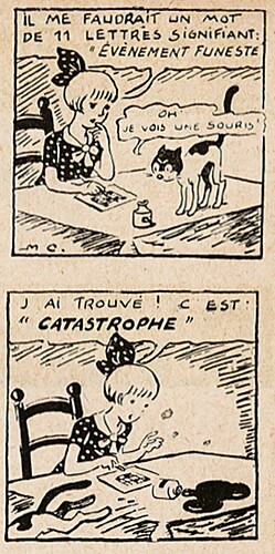 Pat épate 1949 - n°33 - page 7 - Il me faudrait un mot de 11 lettres - 14 août 1949