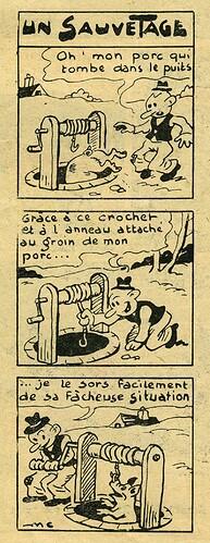 Pat épate 1949 - n°7 - page 14 - Un sauvetage - 13 février 1949