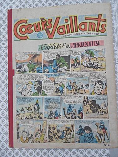 Reliure Coeurs Vaillants 1955 - n°21 - du n°35 au n°52