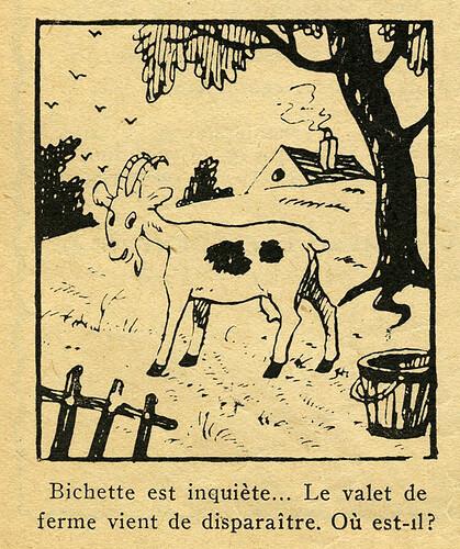 Pat épate 1949 - n°5 - page 6 - Bichette est inquiète - 30 janvier 1949