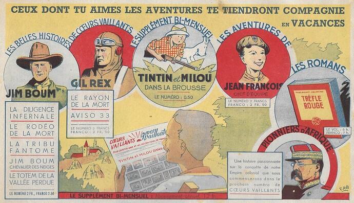 Coeurs Vaillants 1941 - n°29 - page 6 - Publicité pour les publications Flerus - 20 juillet 1941