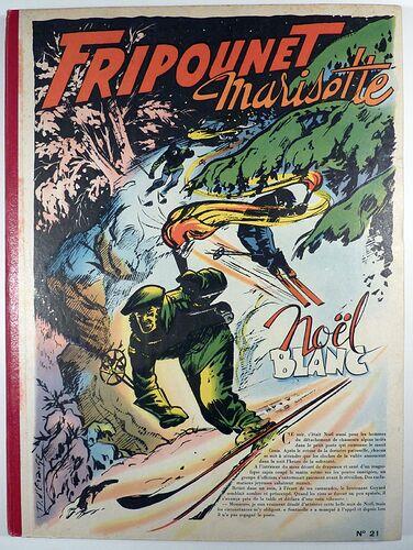 Reliure Fripounet et Marisette 1956 - n°21 - du n°38 au n°53