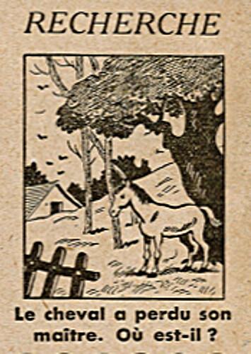 Ames Vaillantes 1938 - n°26 - page 8 - Recherche - Le cheval a perdu son maître - 30 juin 1938
