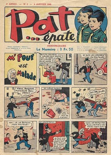 Pat épate 1949 - n°2 - M POUF est malade - 9 janvier 1949 - page 1