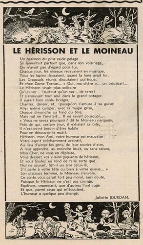 Ames Vaillantes 1937 - n°1 - Le Hérisson et le Moineau - 8 décembre 1937 - page 6