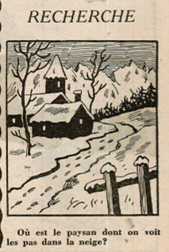 Ames Vaillantes 1938 - n°4 - page 2 - Recherche - Où est le paysan dont on voit les pas dans la neige - 27 janvier 1938
