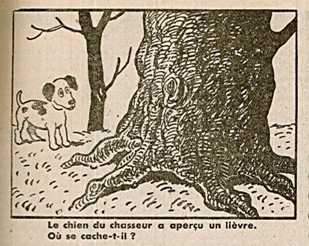 Ames Vaillantes 1938 - n°8 - page 7 - Le chien a aperçu un lièvre - 24 février 1938