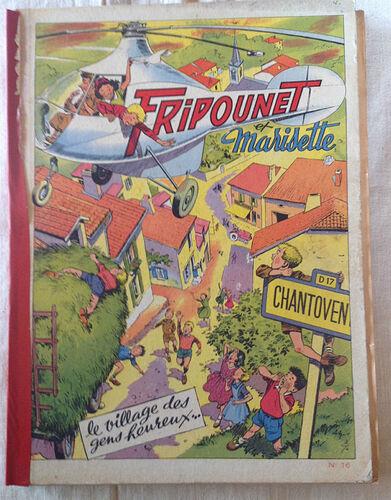Reliure Fripounet et Marisette 1954 - n°16 - du n°27 au n°52