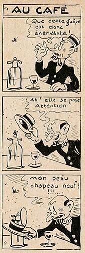 Pat épate 1949 - n°35 - page 14 - Au café - 28 août 1949