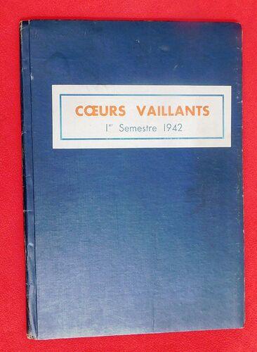 Reliure Coeurs Vaillants 1942 - 1er semestre