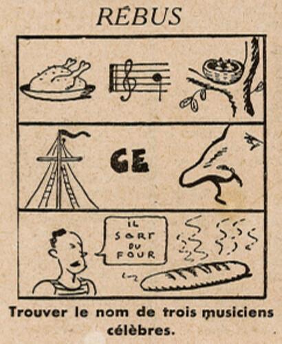 Ames Vaillantes 1938 - n°25 - page 4 -  Rébus - 23 juin 1938
