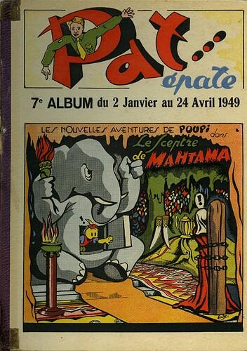 Pat épate 1949 - album n°7 - du 2 janvier au 24 avril 1949 - couverture
