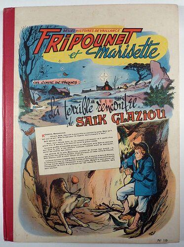 Reliure Fripounet et Marisette 1956 - n°19 - du n°1 au n°20 bis