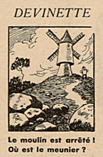 Ames Vaillantes 1938 - n°17 - page 2 - Devinette - Le moulin est arrêté - 28 avril 1938