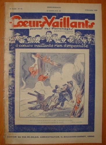 Coeurs Vaillants - Journal des Patronages 1929 - n°44 - édition du Pas-de-Calais